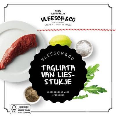 Vleesch&Co natuurvlees recept Tagliata ezeltje