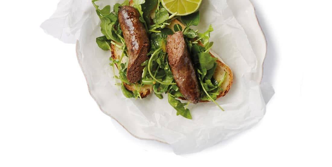 Vleesch&co eerlijk natuurvlees saucijs serveertip