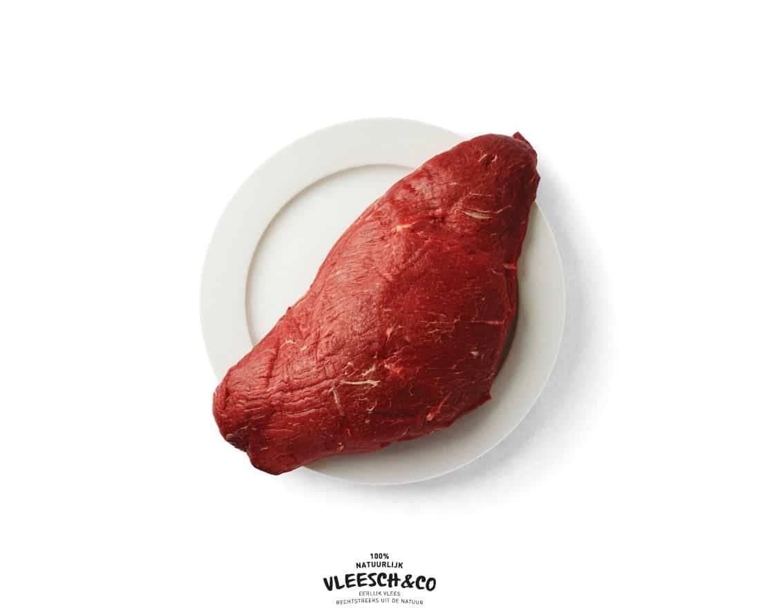 Vleesch&co bloemstuk logo