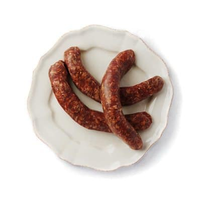 Vleesch&Co worst rundersaucijzen gekruide braadworst