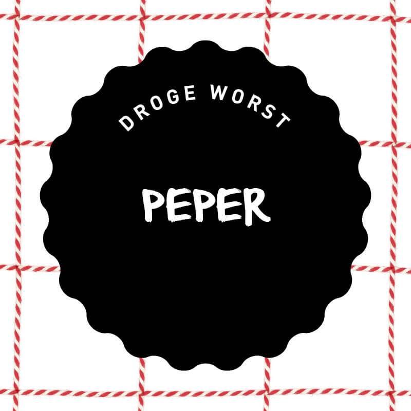 Vleeschenco droge worst peper