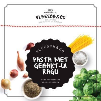 Vleeschenco recept Pasta met gehakt ui ragu