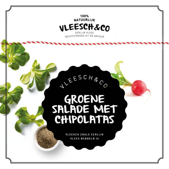 Vleeschenco recept groene salade chipolata