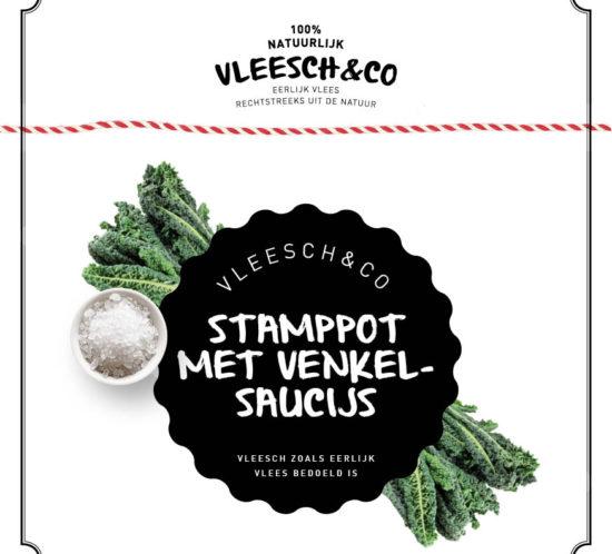 Vleeschenco recept palmkool stamppot venkelsaucijs