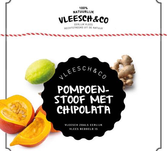 Vleeschenco recept pompoenstoof chipolata