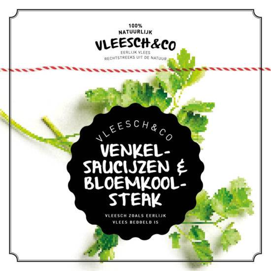Vleeschenco recept venkelworst saucijzen bloemkoolsteak