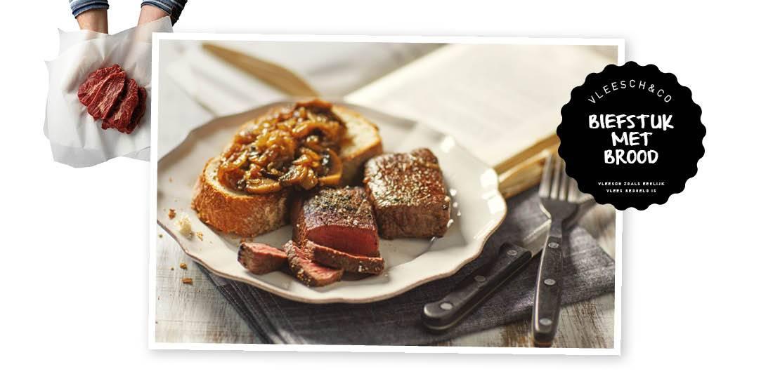 biefstuk met brood VleeschenCo