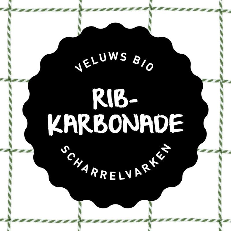 Vleesch&Co Ribkarbonade Veluws scharrelvarken bio
