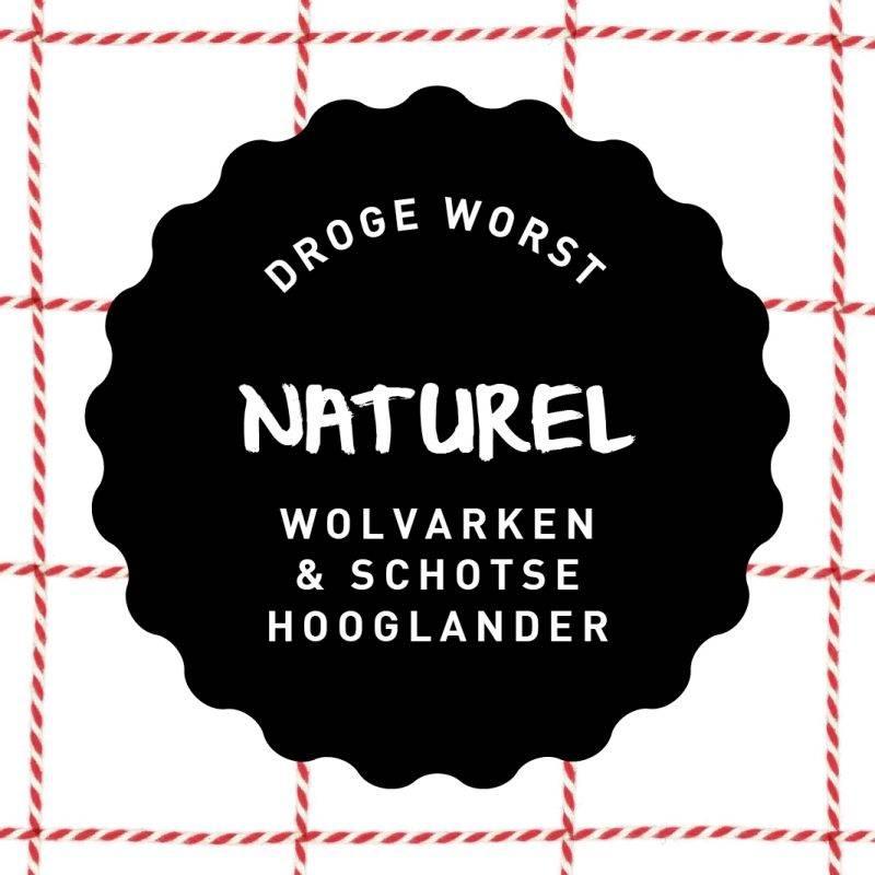 Vleesch & Co droge worst Wolvarken & Schotse Hooglander Naturel