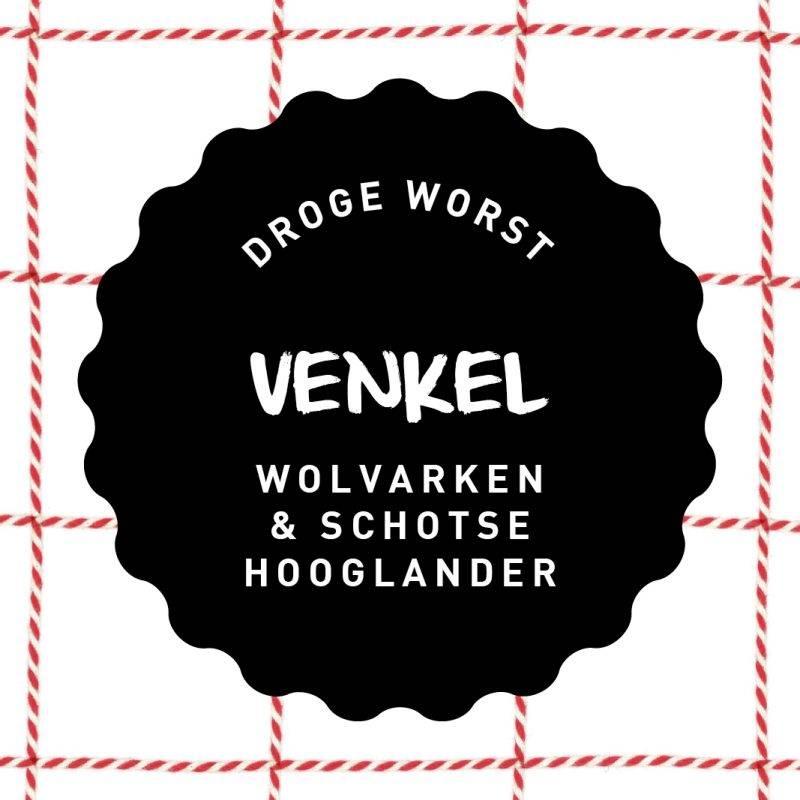 Vleesch & Co droge worst Wolvarken & Schotse Hooglander Venkel