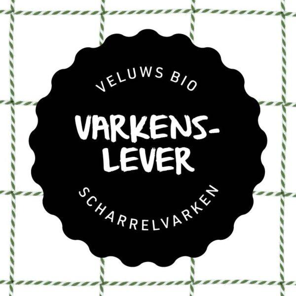 Vleesch & Co varkenslever productlabel