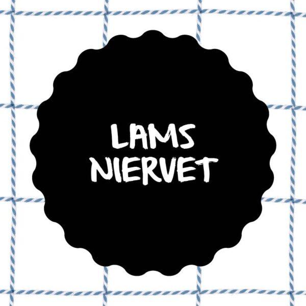 Vleesch & Co lamsniervet productlabel